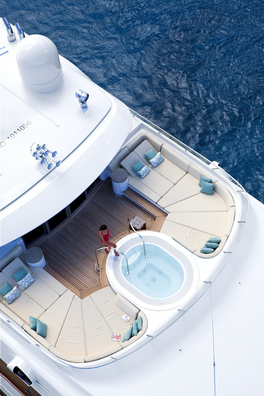 Above: Yacht LADY BRITT's Jacuzzi Pool Pictured