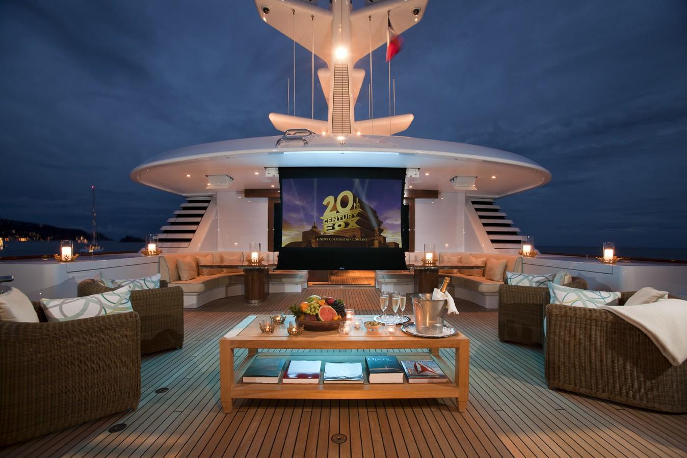 Sun Deck Movie Cinema On Board Yacht LADY BRITT