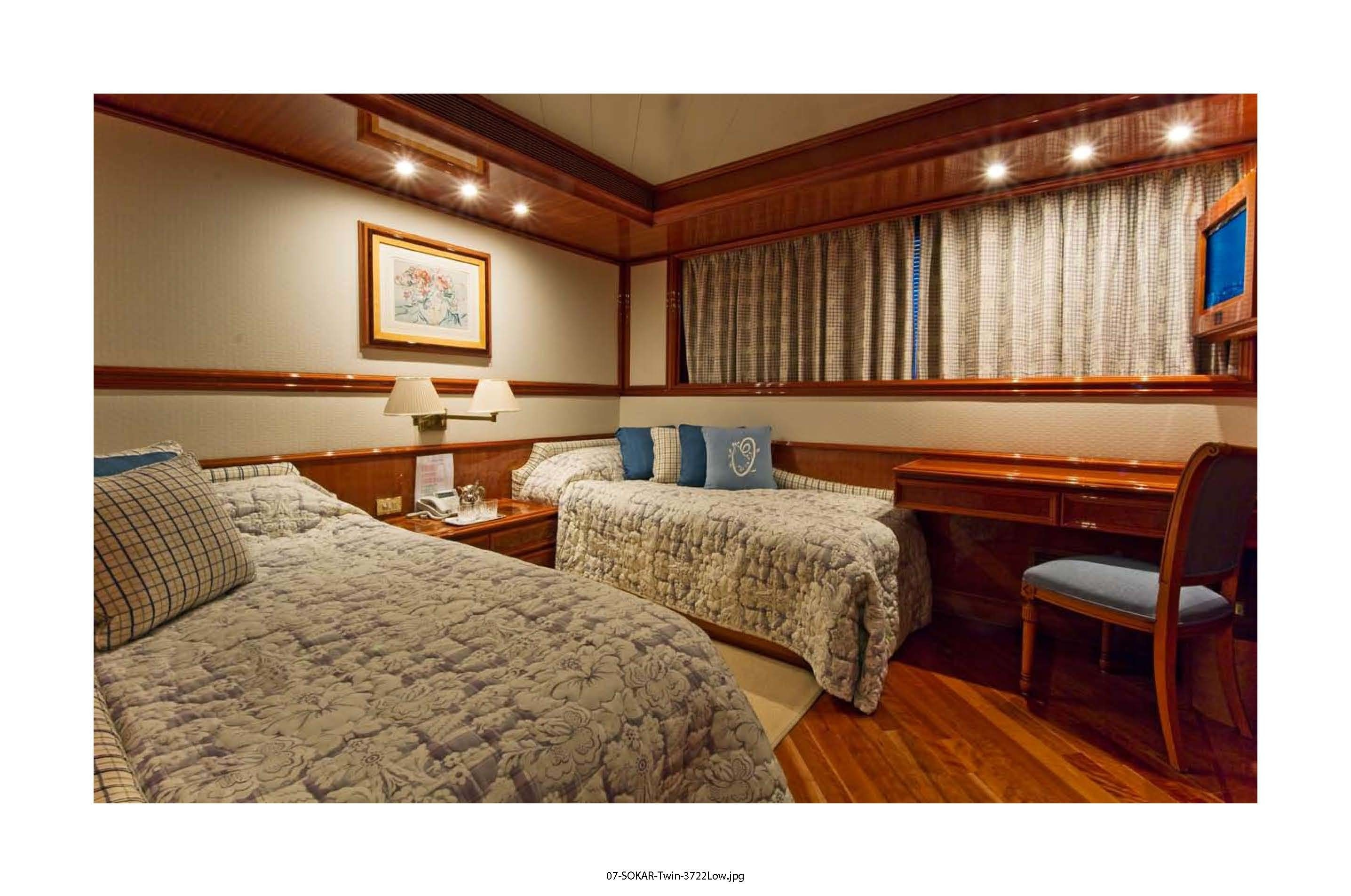 Twin Bed Cabin On Yacht SOKAR