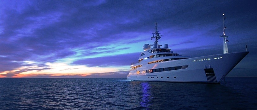 Evening: Yacht NAIA's Profile Aspect Image