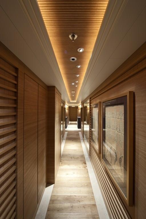 Art: Yacht NAIA's Hallway Pictured