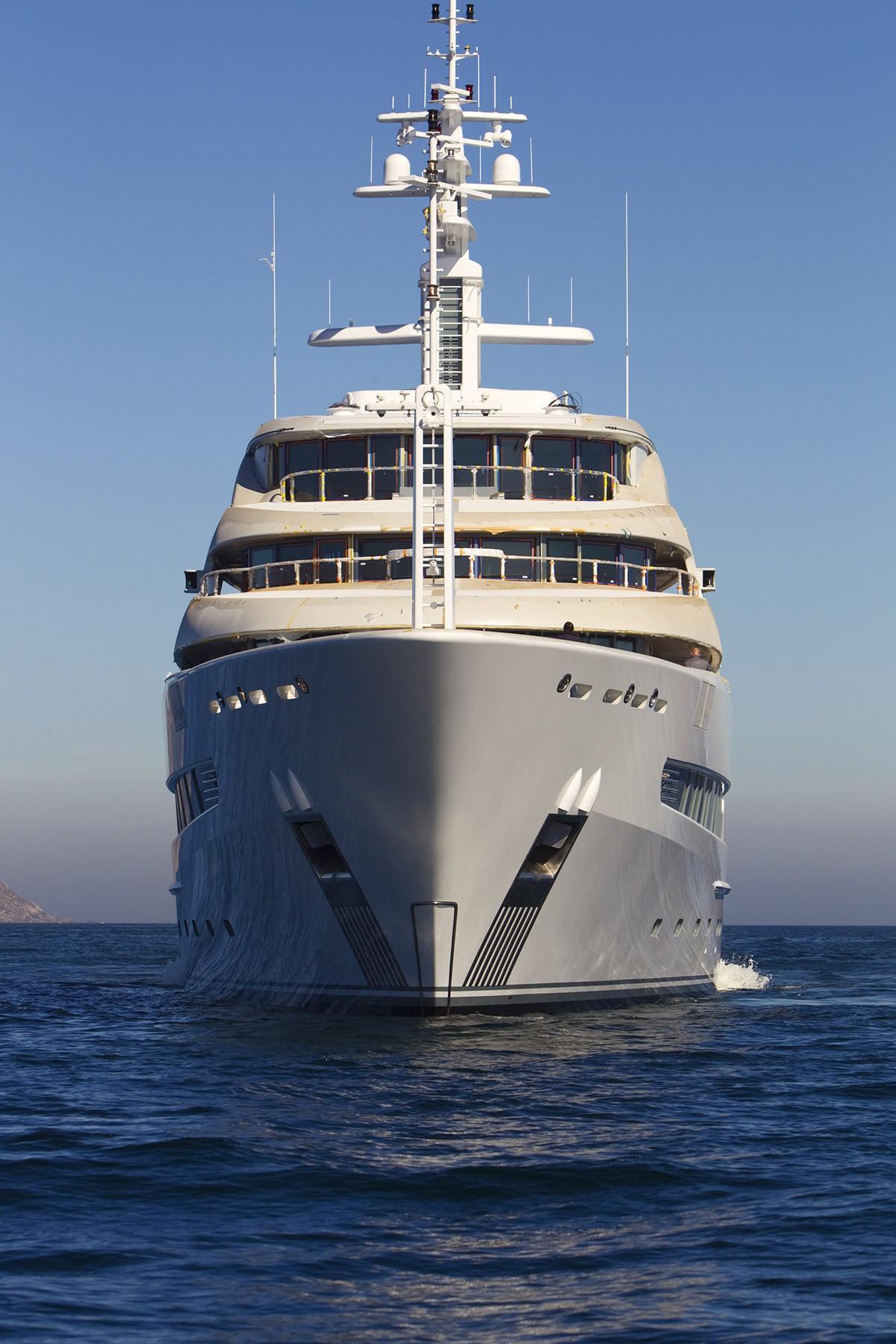 Ship's Bow On Yacht NAIA