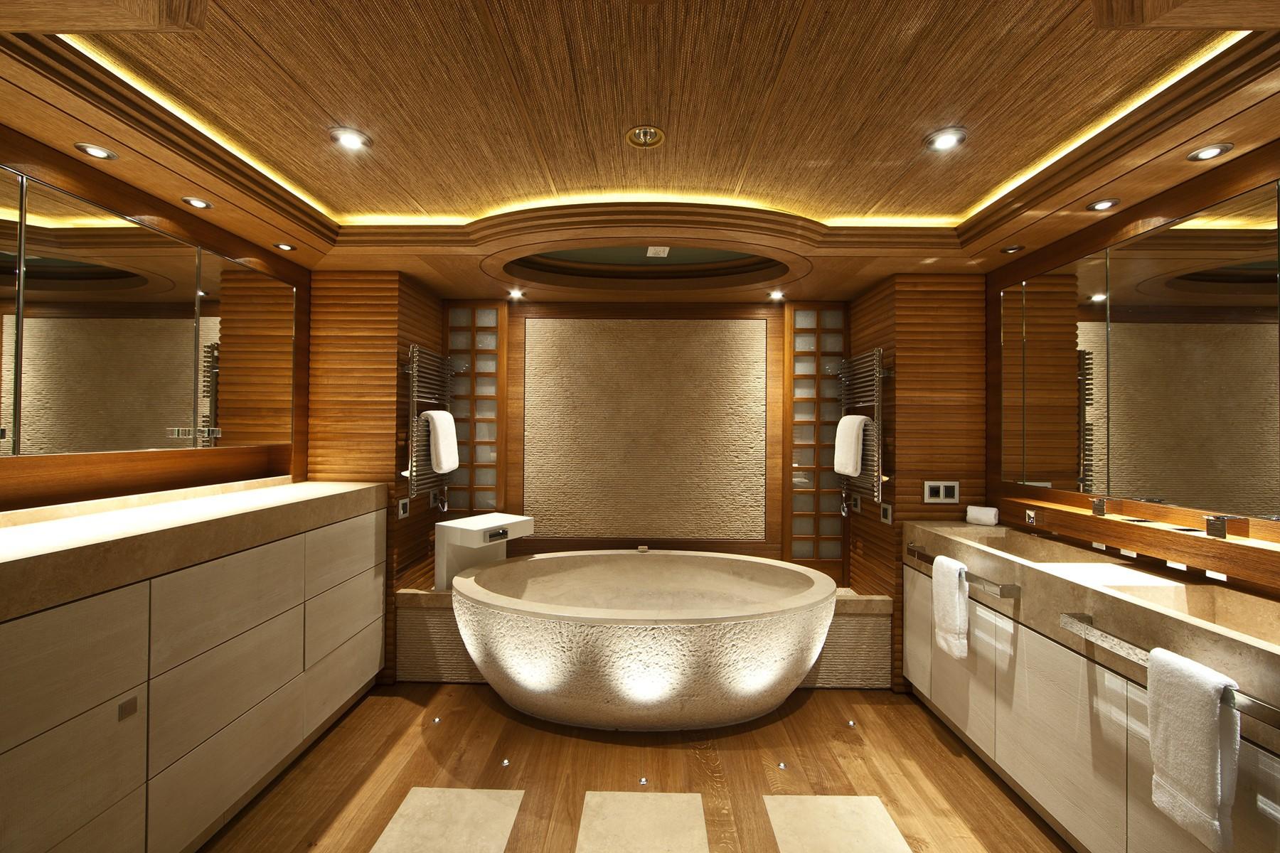 Main Master Bath On Board Yacht NAIA