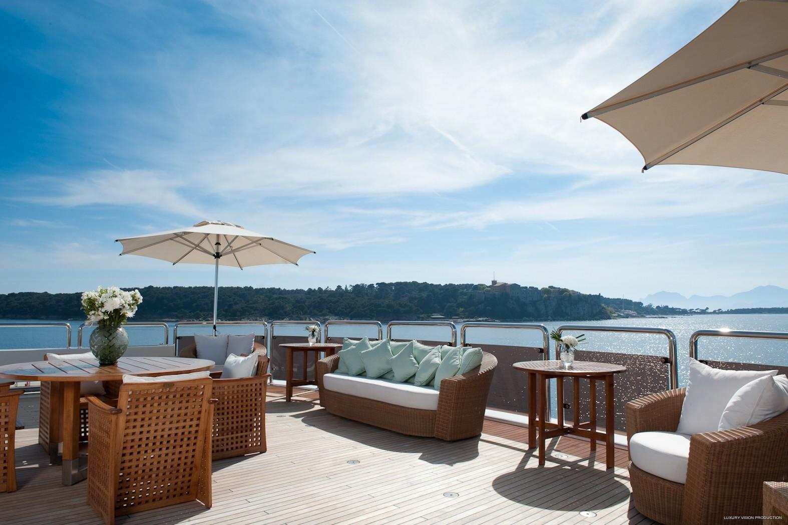 Sitting Zone: Yacht BOADICEA's Sun Deck Image