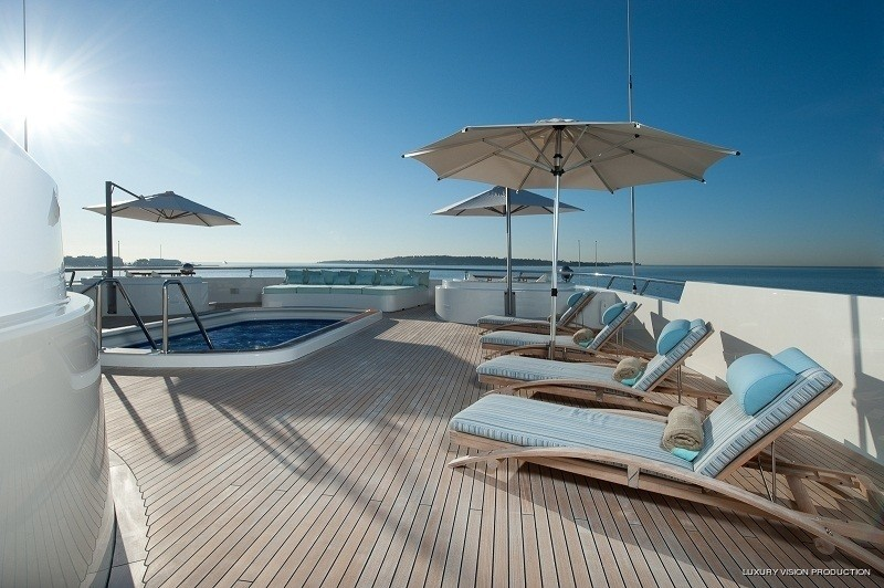 Lounging Including Swimming Pool: Yacht BOADICEA's Sun Deck Image