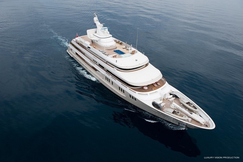 From Above Aspect: Yacht BOADICEA's Cruising Pictured