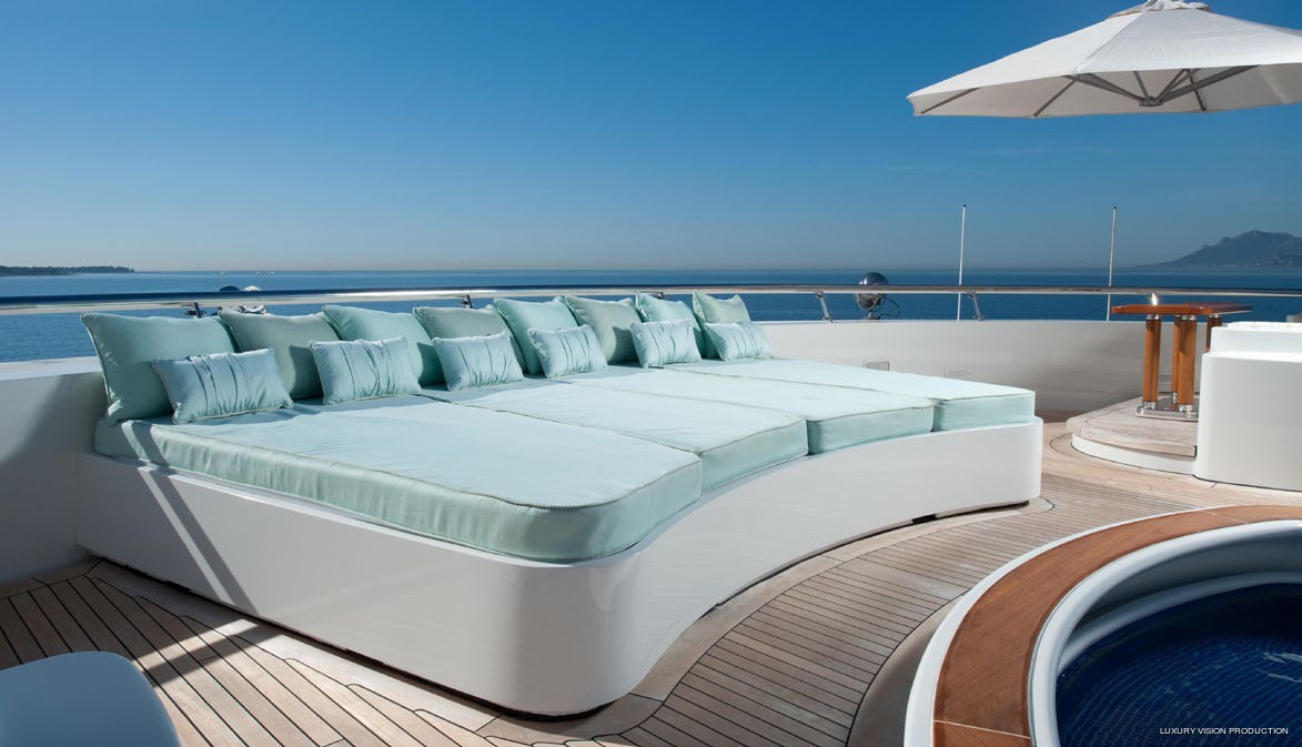 Sunbeds: Yacht BOADICEA's Sun Deck Image