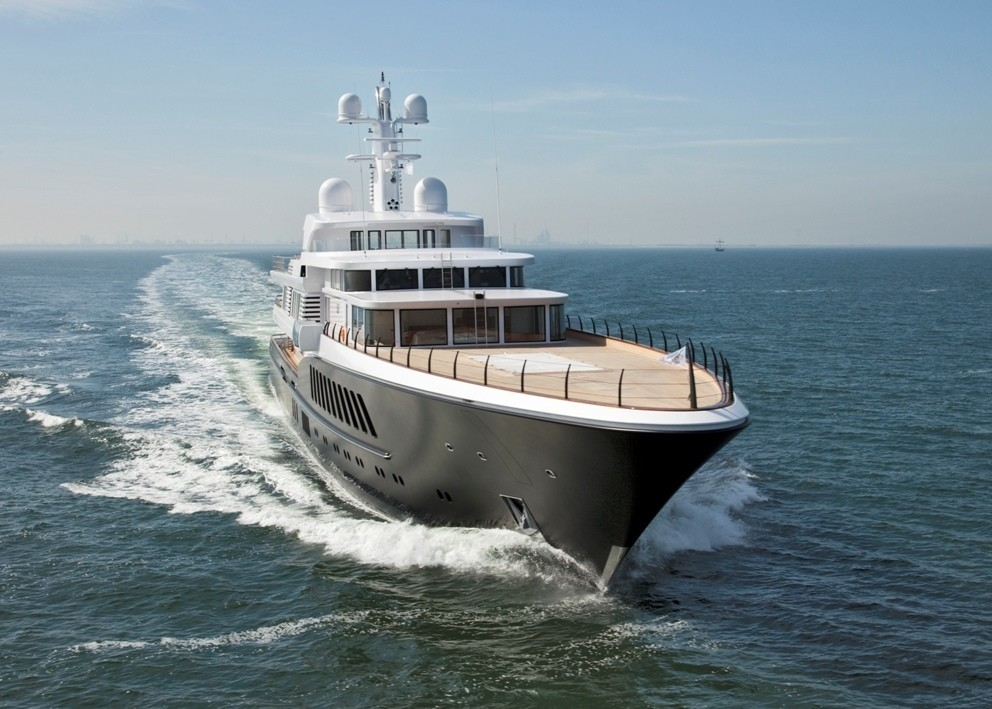 Forward Aspect: Yacht AIR's Cruising Pictured