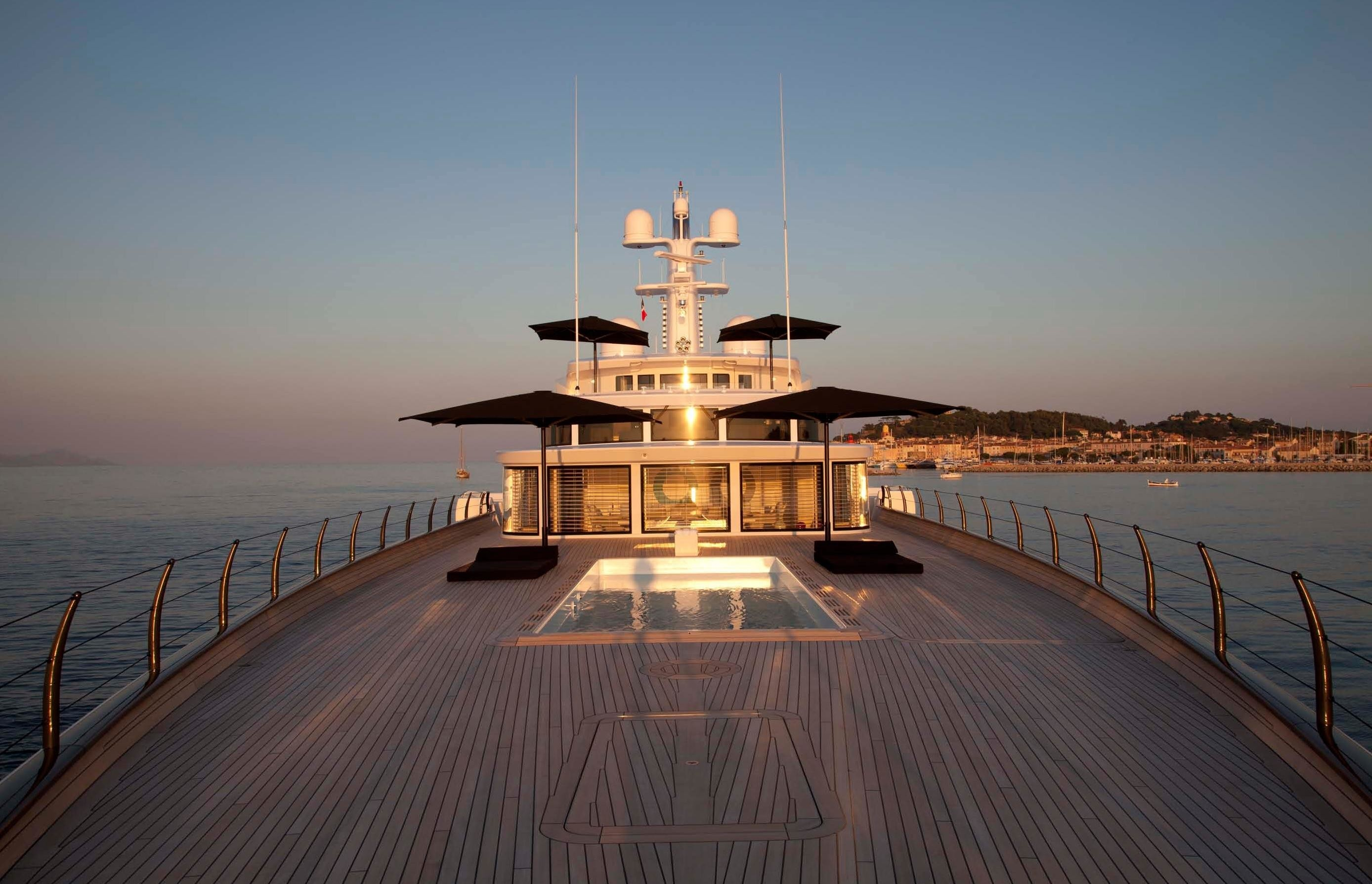 Fore Deck Aboard Yacht AIR in the Mediterranean