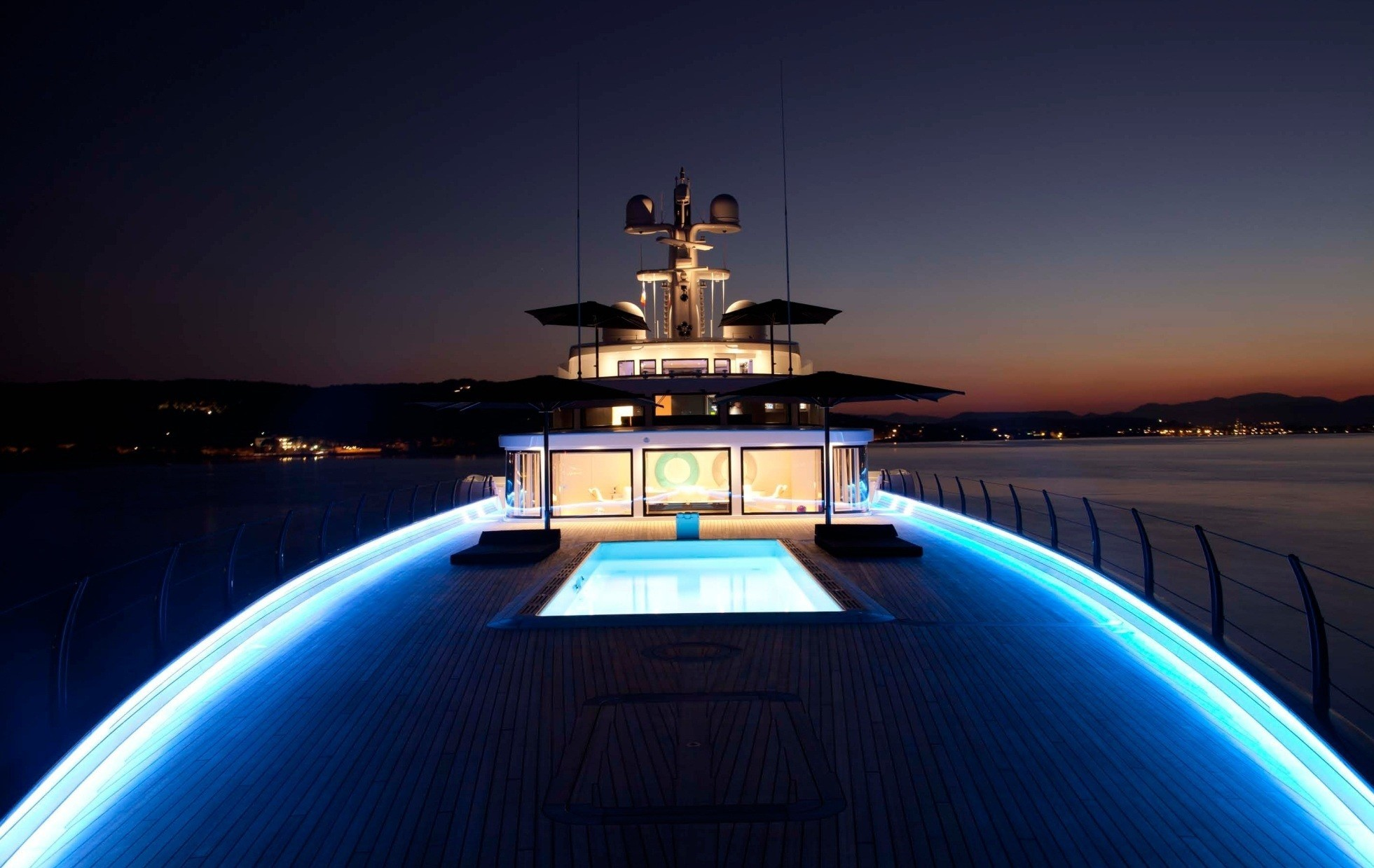 Fore Deck Evening On Yacht AIR