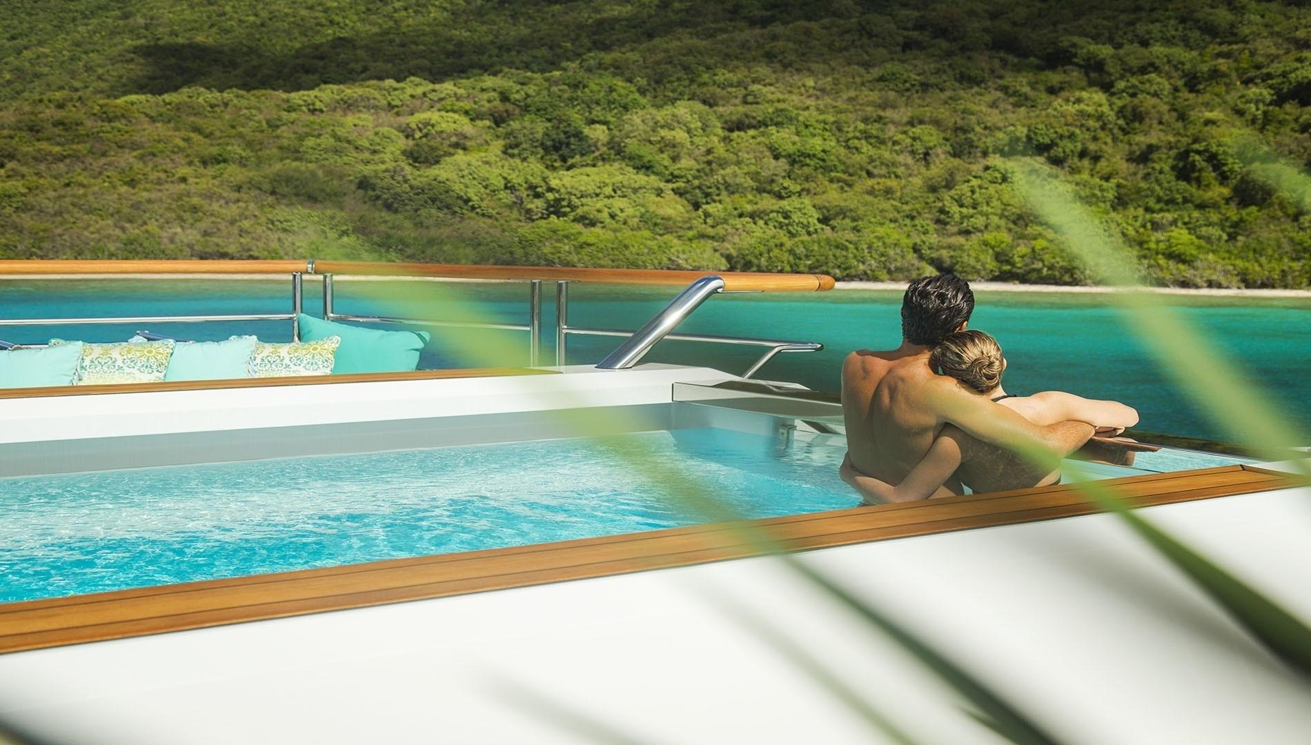 Swim Swimming Pool Aboard Yacht SOLANDGE