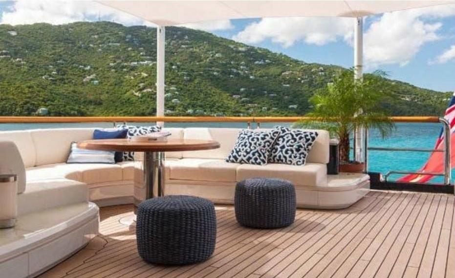 Aft Deck Sitting On Board Yacht SOLANDGE