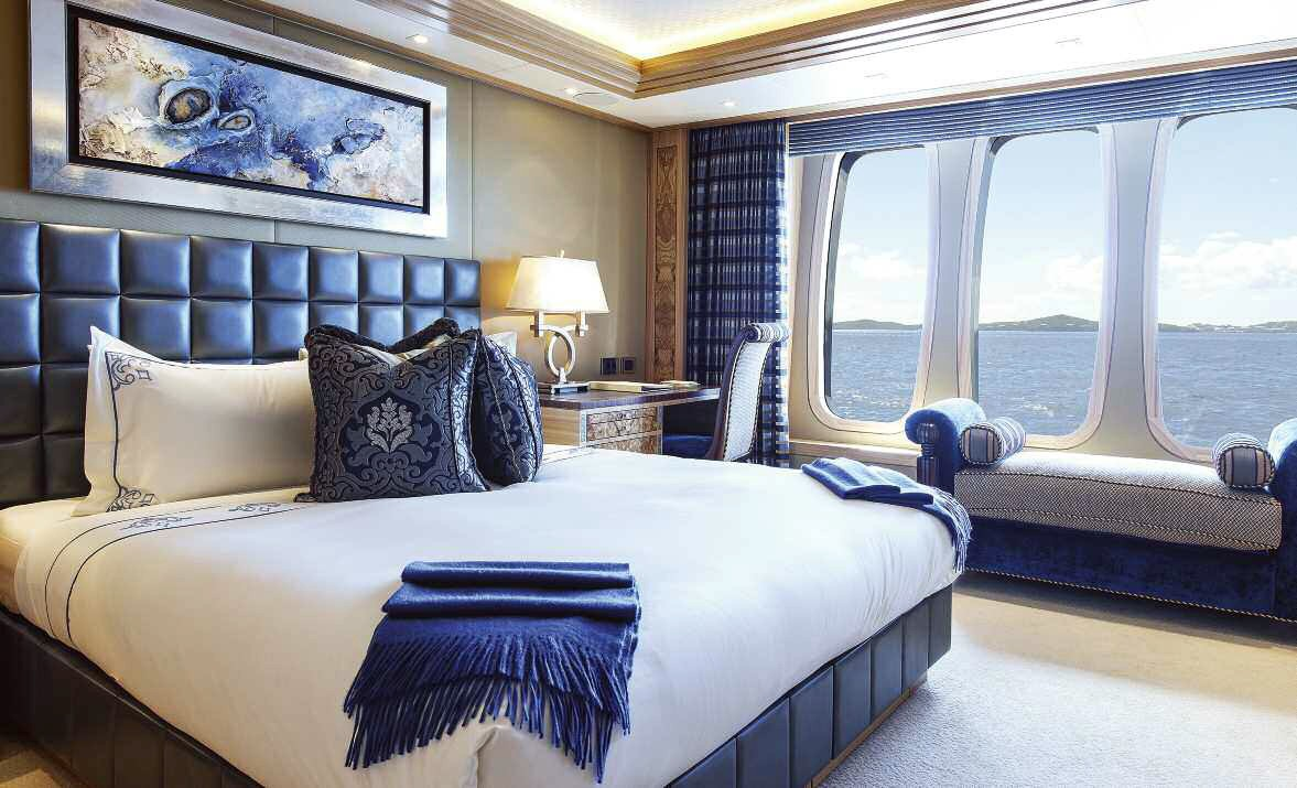 Guest's Suite On Board Yacht SOLANDGE