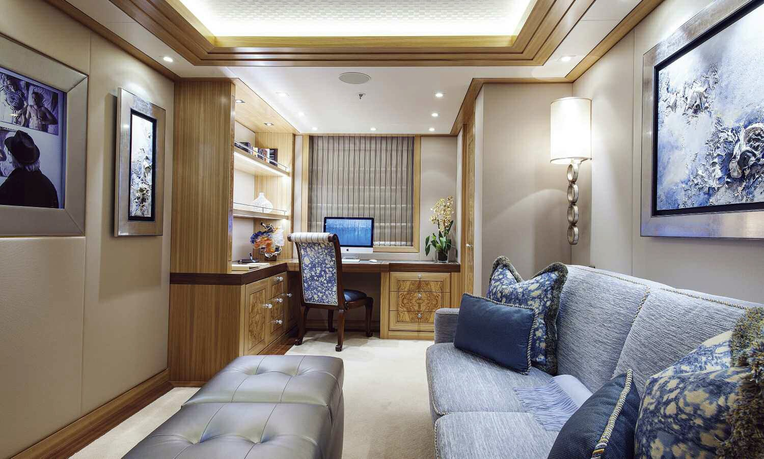Personal Office On Board Yacht SOLANDGE