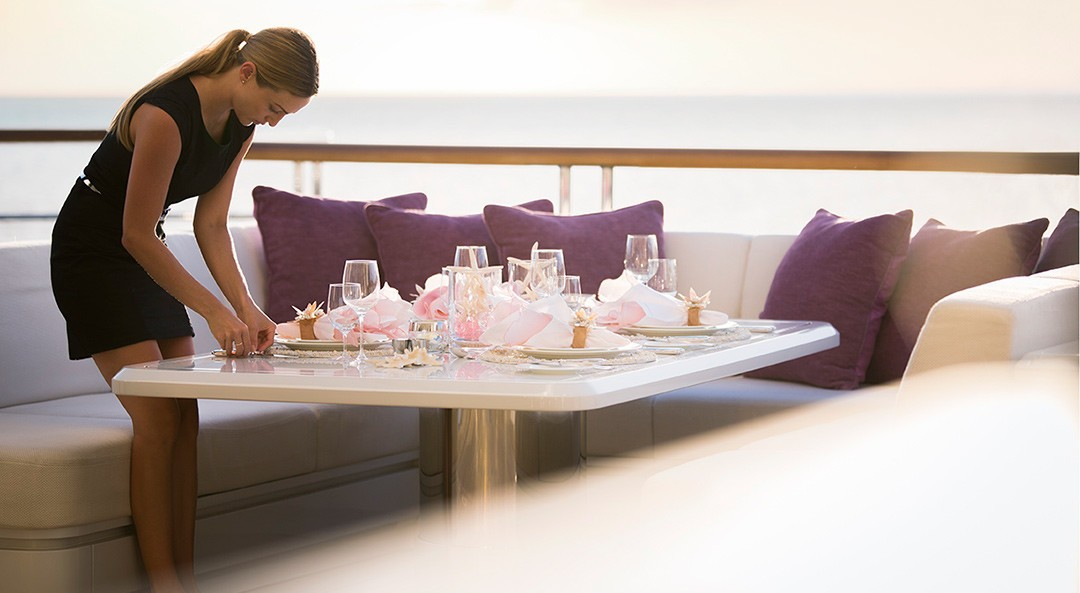 Outdoor Eating/dining On Yacht SOLANDGE