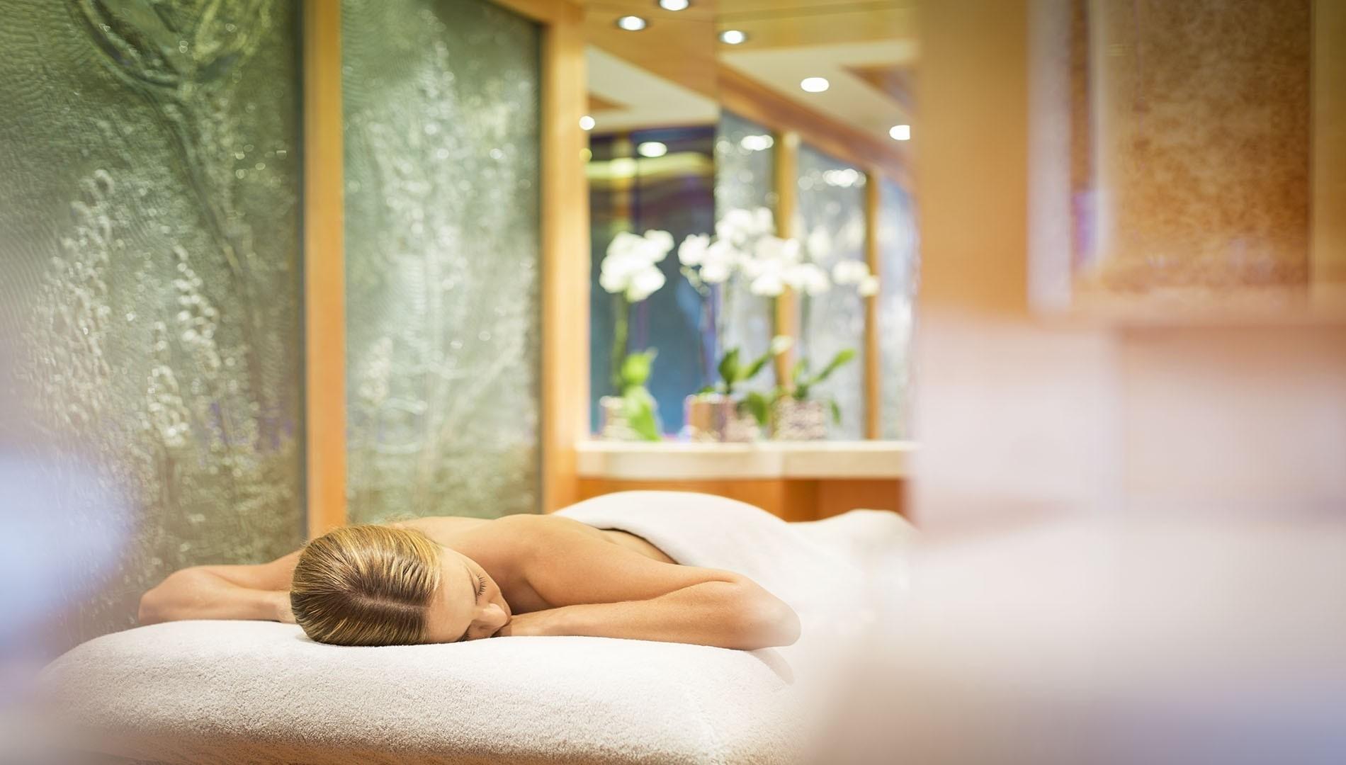 Massage Furniture In The Spa Zone On Board Yacht SOLANDGE