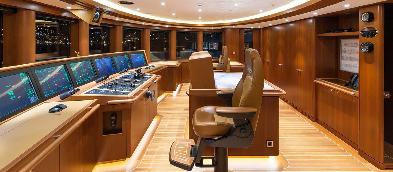 Wheel House Aboard Yacht SOLANDGE
