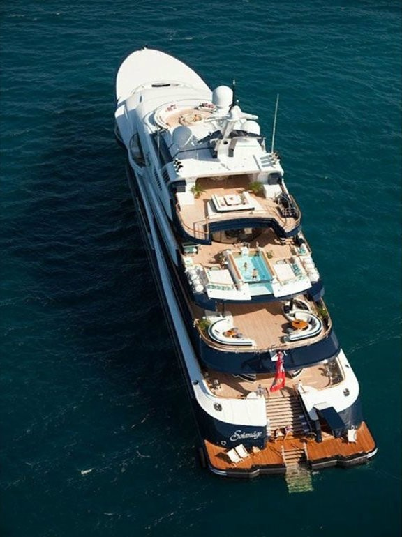 From Above On Board Yacht SOLANDGE