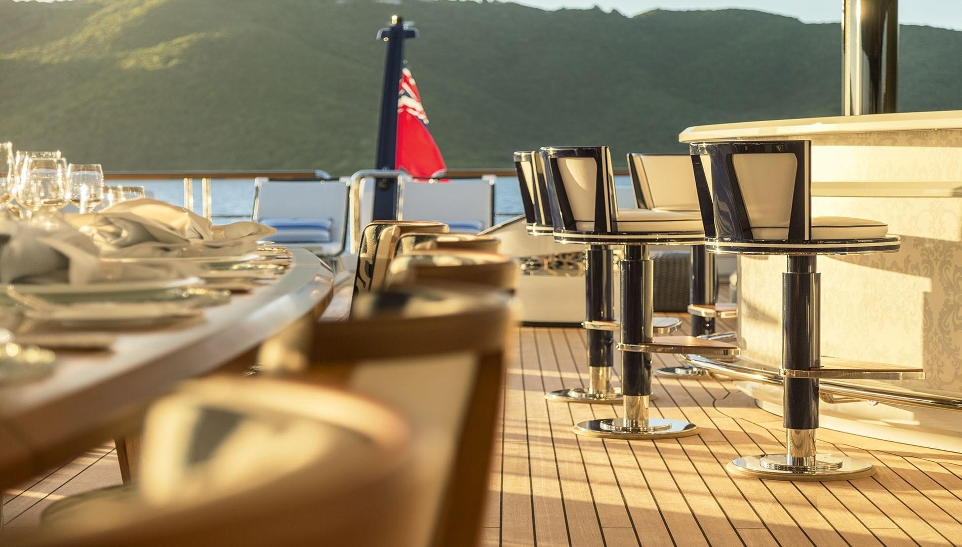External Drinks Bar Aboard Yacht SOLANDGE