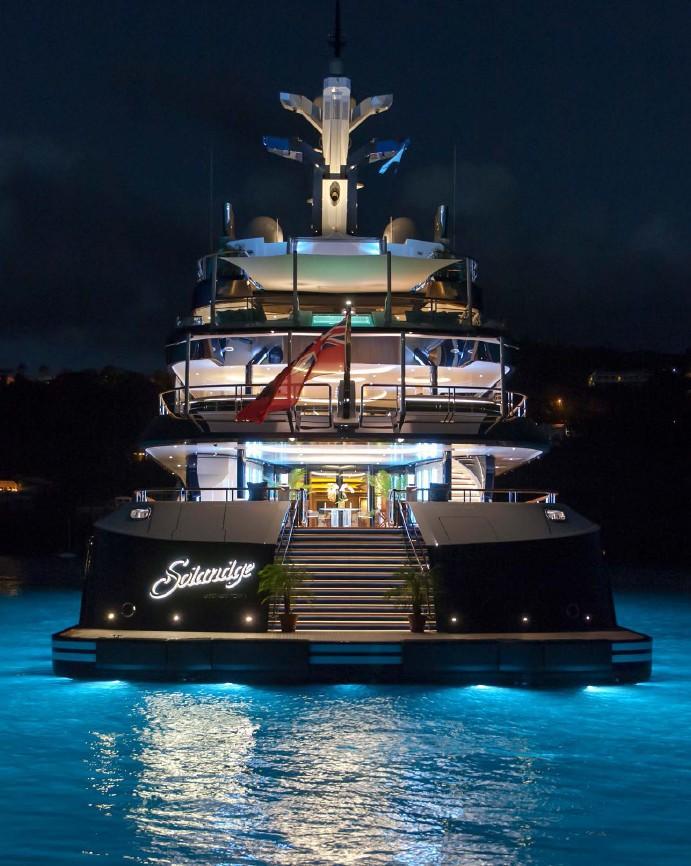 Aft Deck Evening Aboard Yacht SOLANDGE