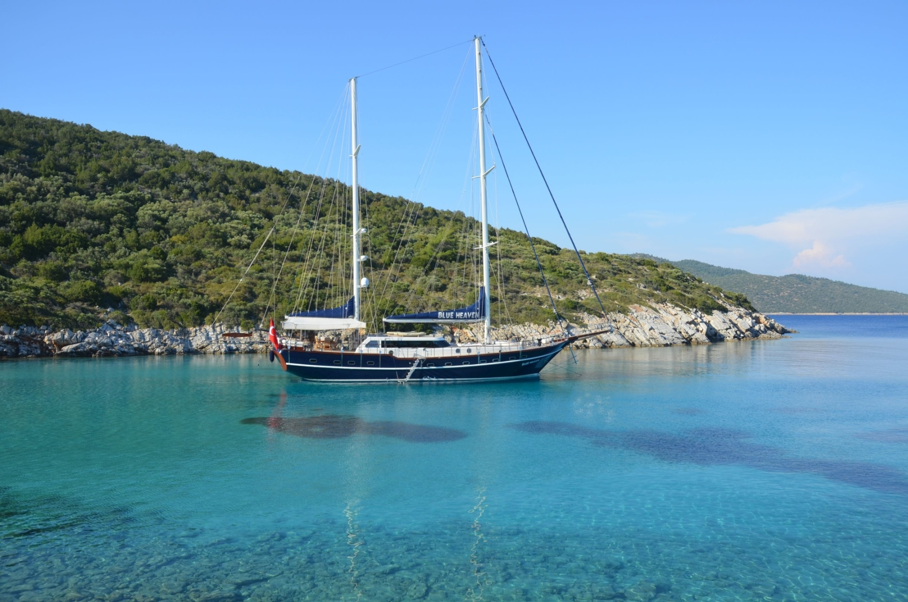 S/Y BLUE HEAVEN - Anchored