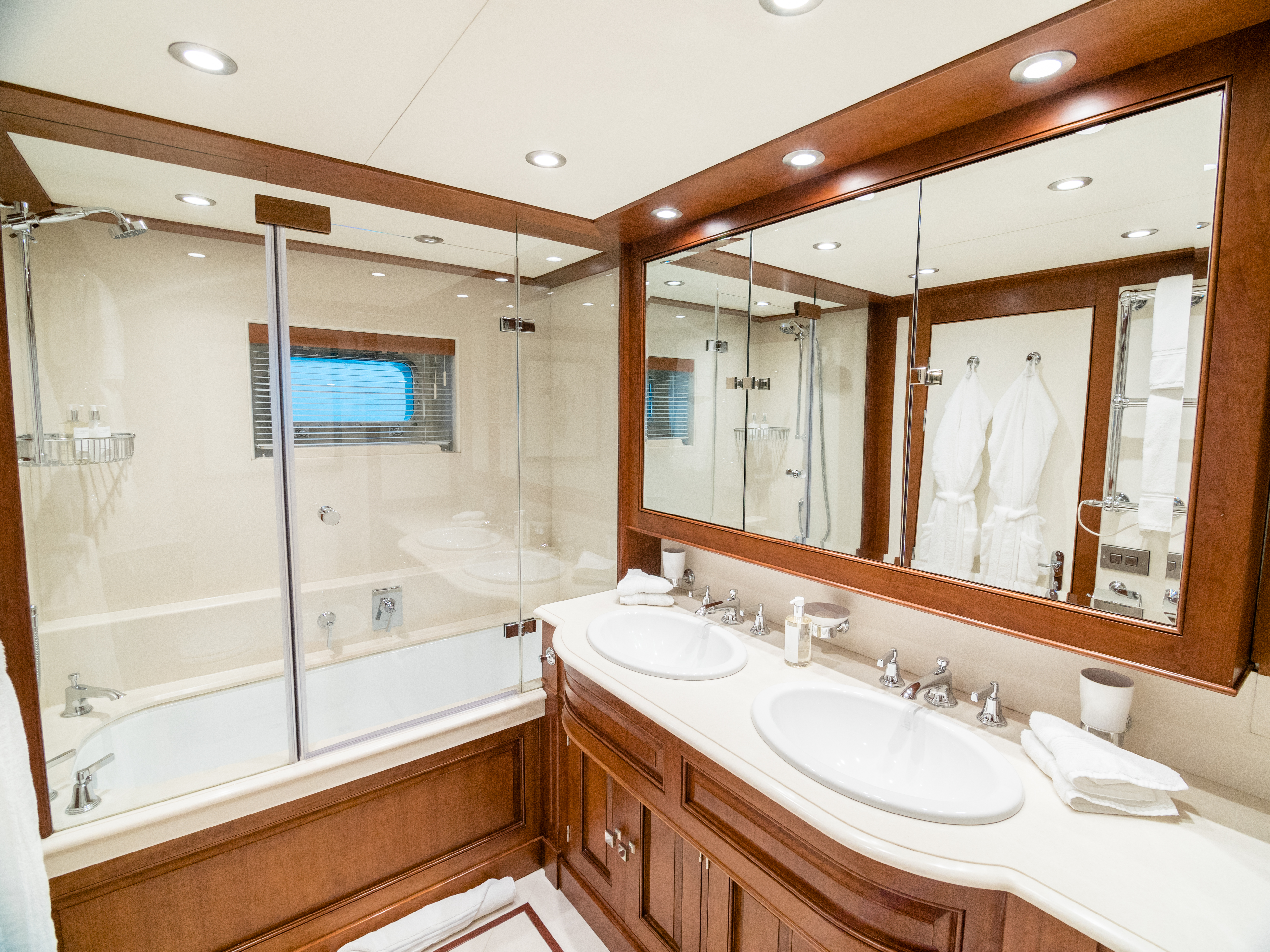 Ensuite Bathroom With His And Hers Sink