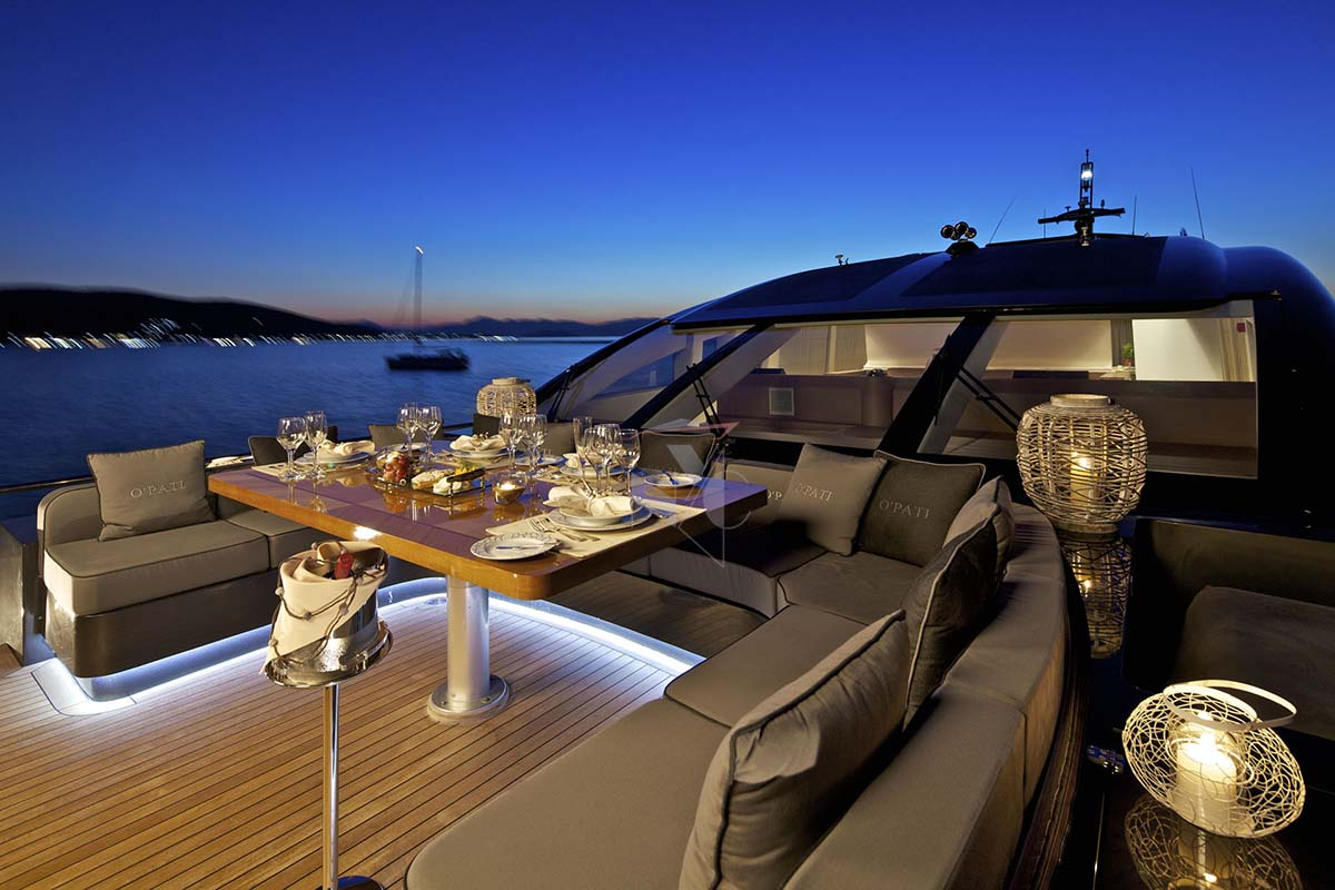 Foredeck Dining At Night
