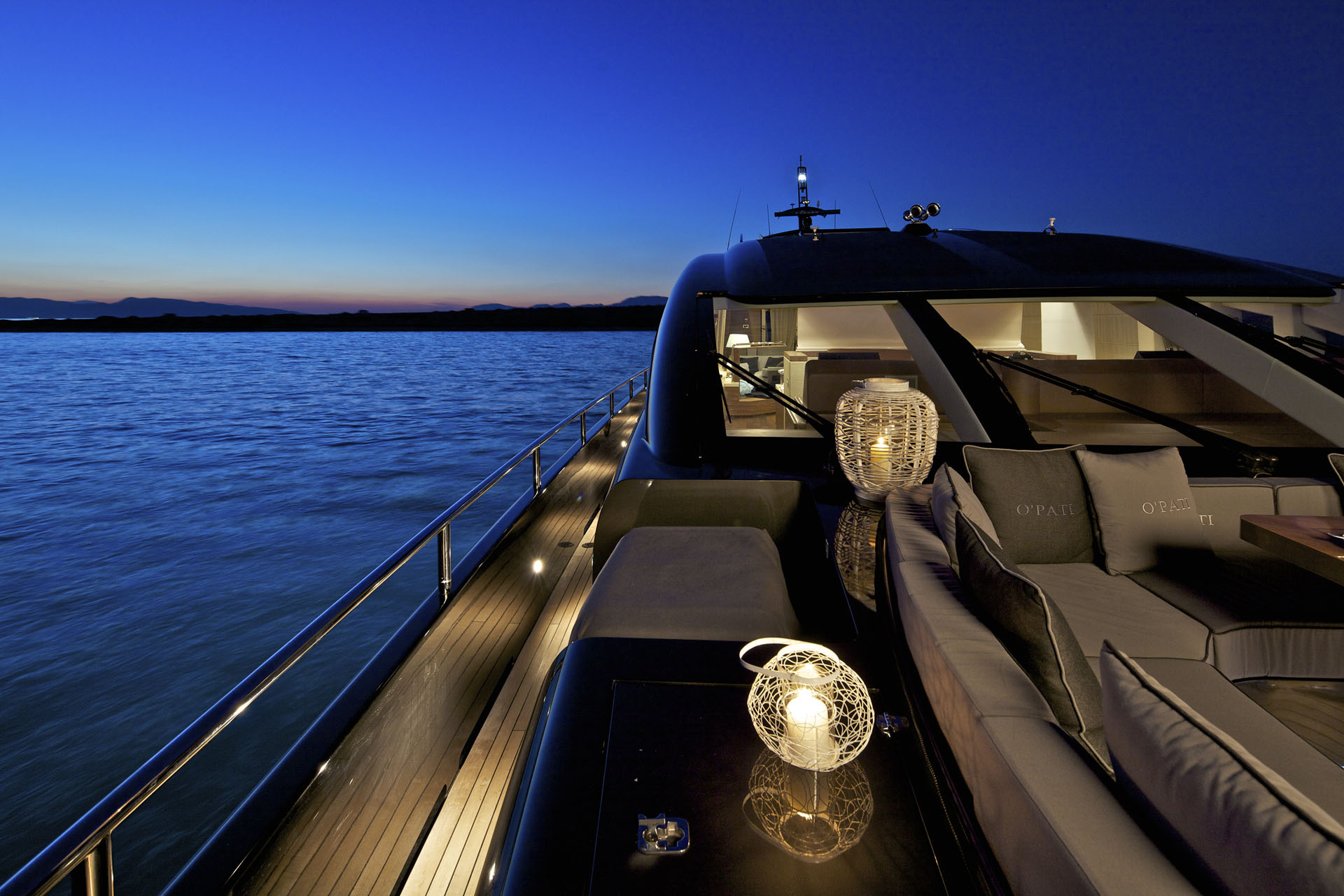 Mood Lighting At Night On The Fore Deck