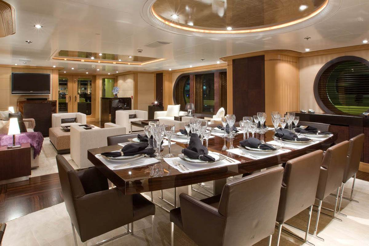 Dining Image Gallery Luxury Yacht Browser By