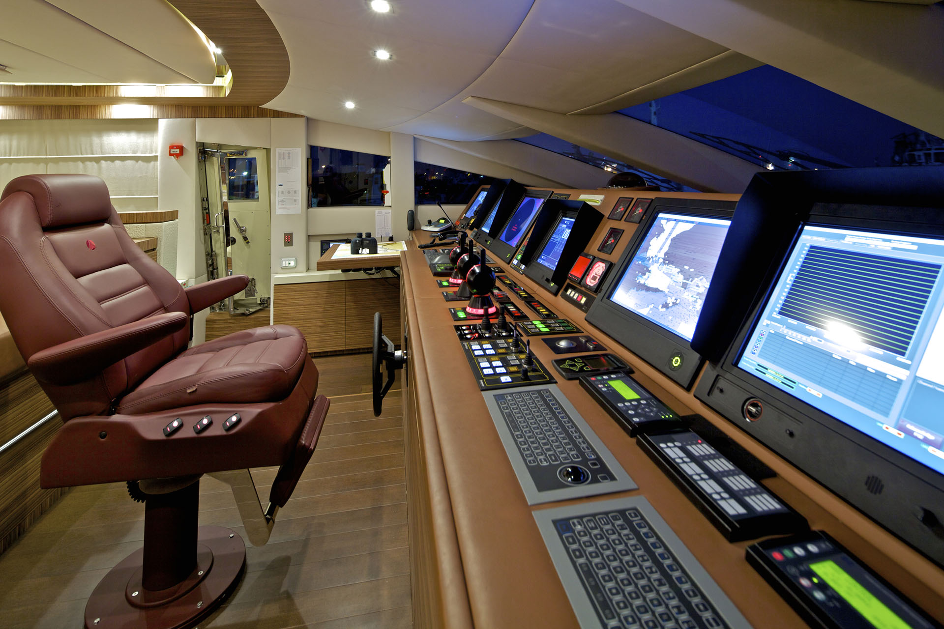 Wheelhouse At Night