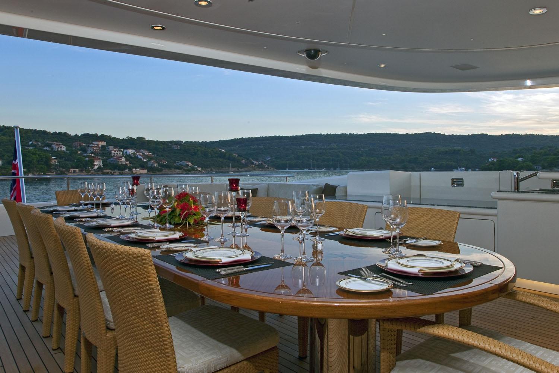 Yacht MARY JEAN II By ISA - Al Freco Dining