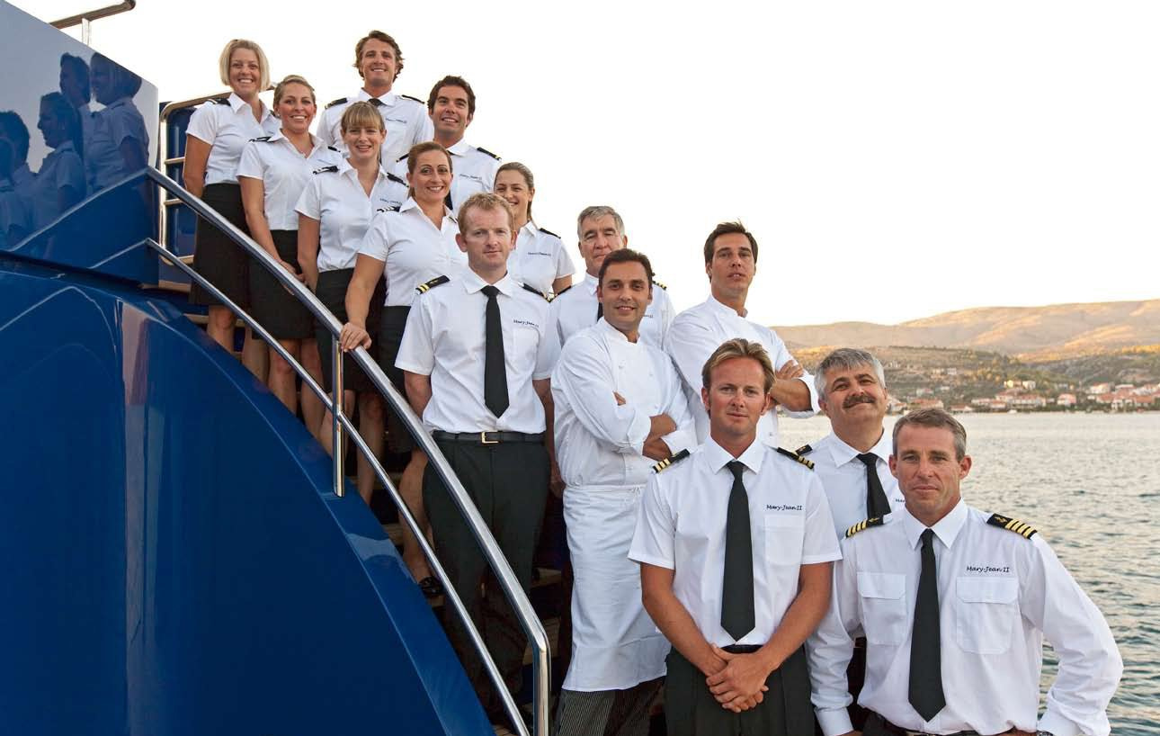 Yacht MARY JEAN II By ISA - The Crew, At Time Of Pic