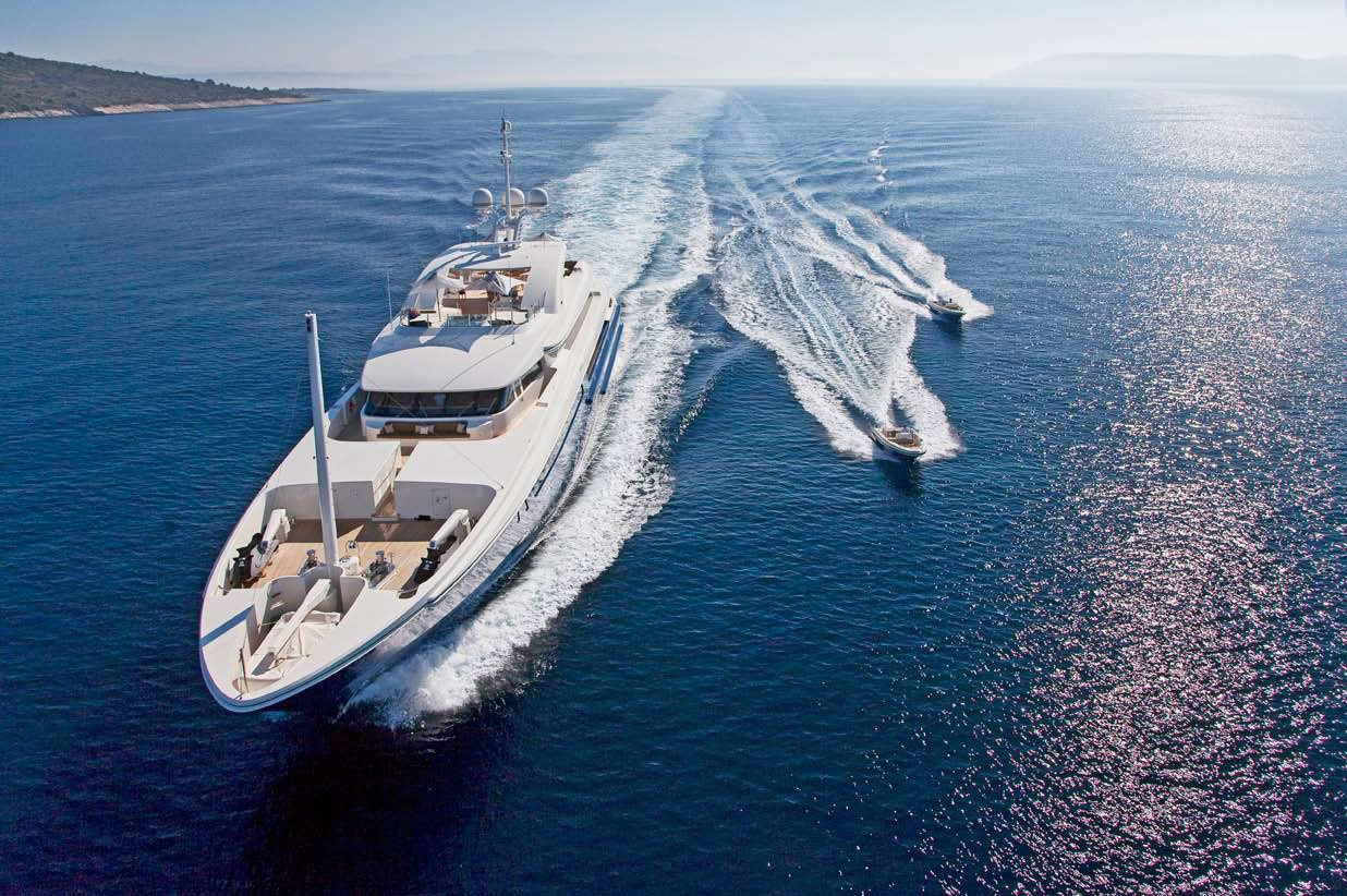 Yacht MARY JEAN II By ISA - Profile Underway In The Mediterranean