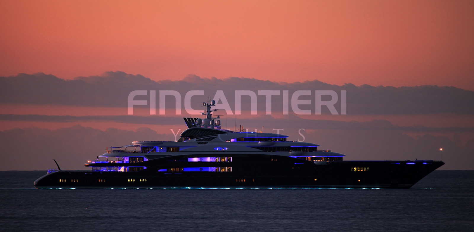 Yacht SERENE By Fincantieri - Profile Evening