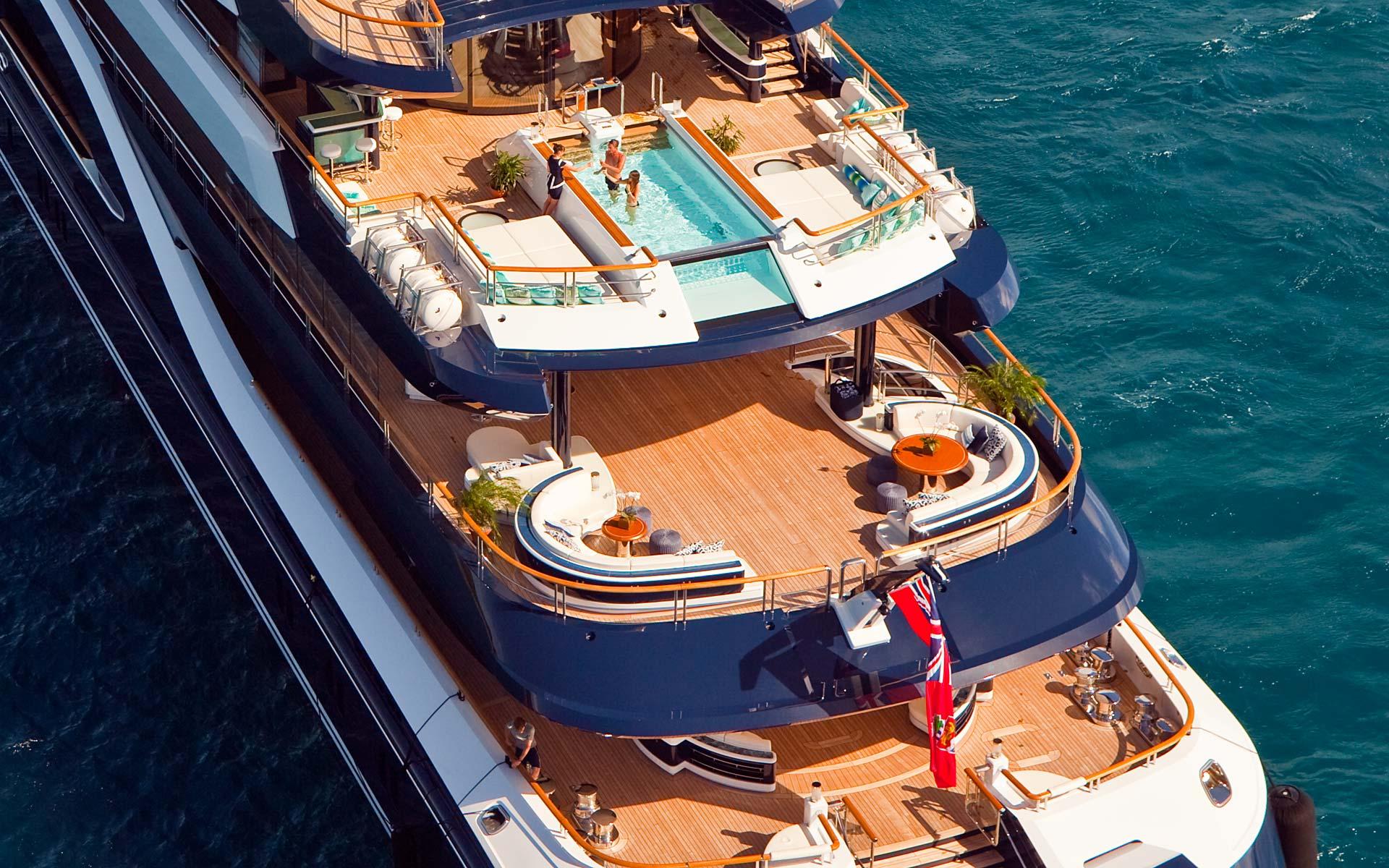 Yacht Solandge - Aft Decks