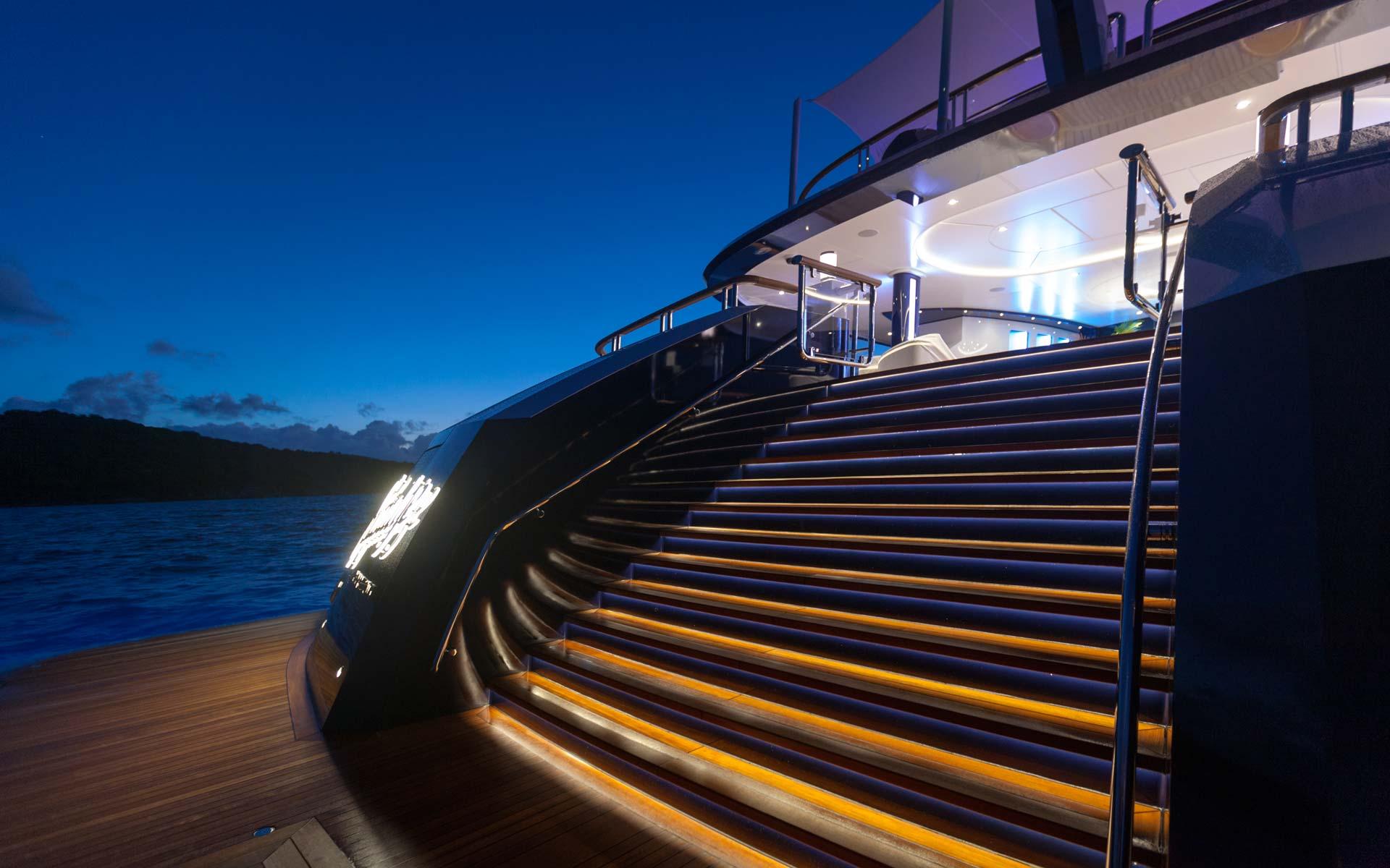 Yacht Solandge - Aft Swim Deck