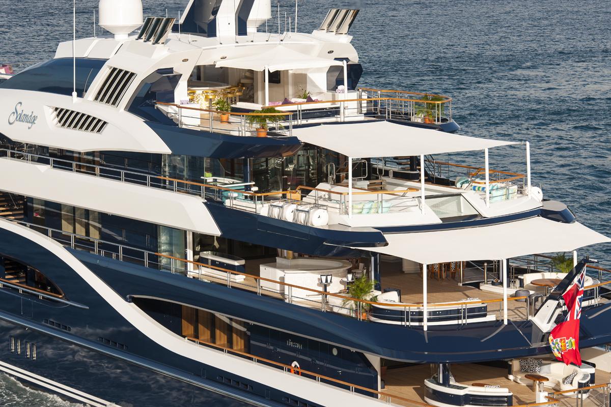 Yacht Solandge - Aft