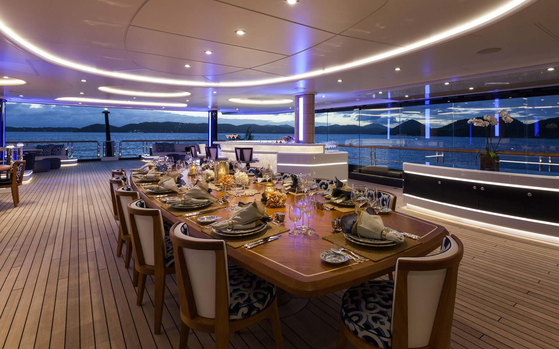 Yacht Solandge - Al Fresco Dining