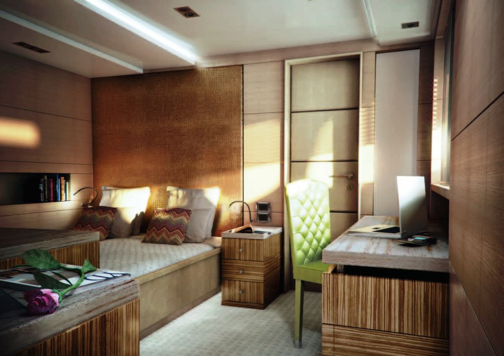 Yacht Told U So VIP Guest Cabin The Zebrano Room Starboard