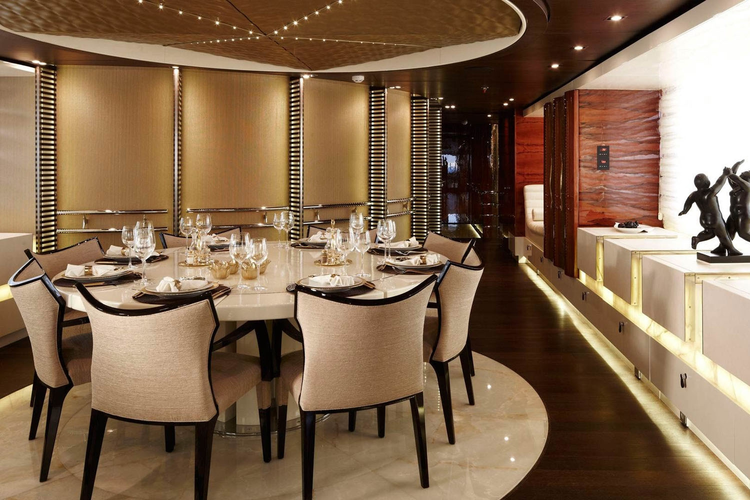 Dining Table Image Gallery – Luxury Yacht Browser | by CHARTERWORLD