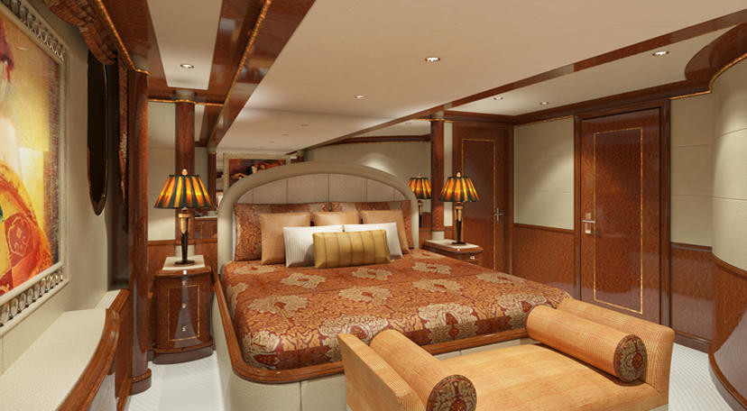 Double Bed In Large Cabin