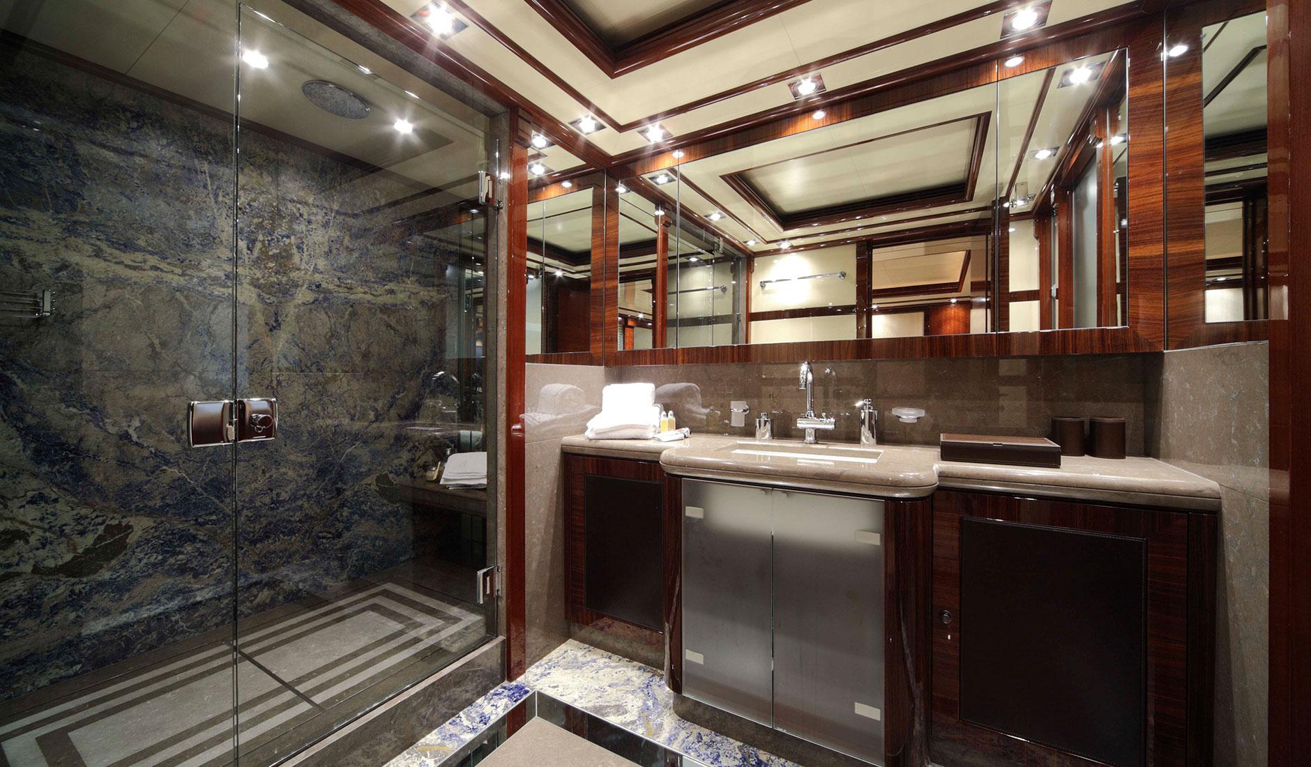 Guest En Suite Bathroom: Yacht AZTECA, CRN Superyacht