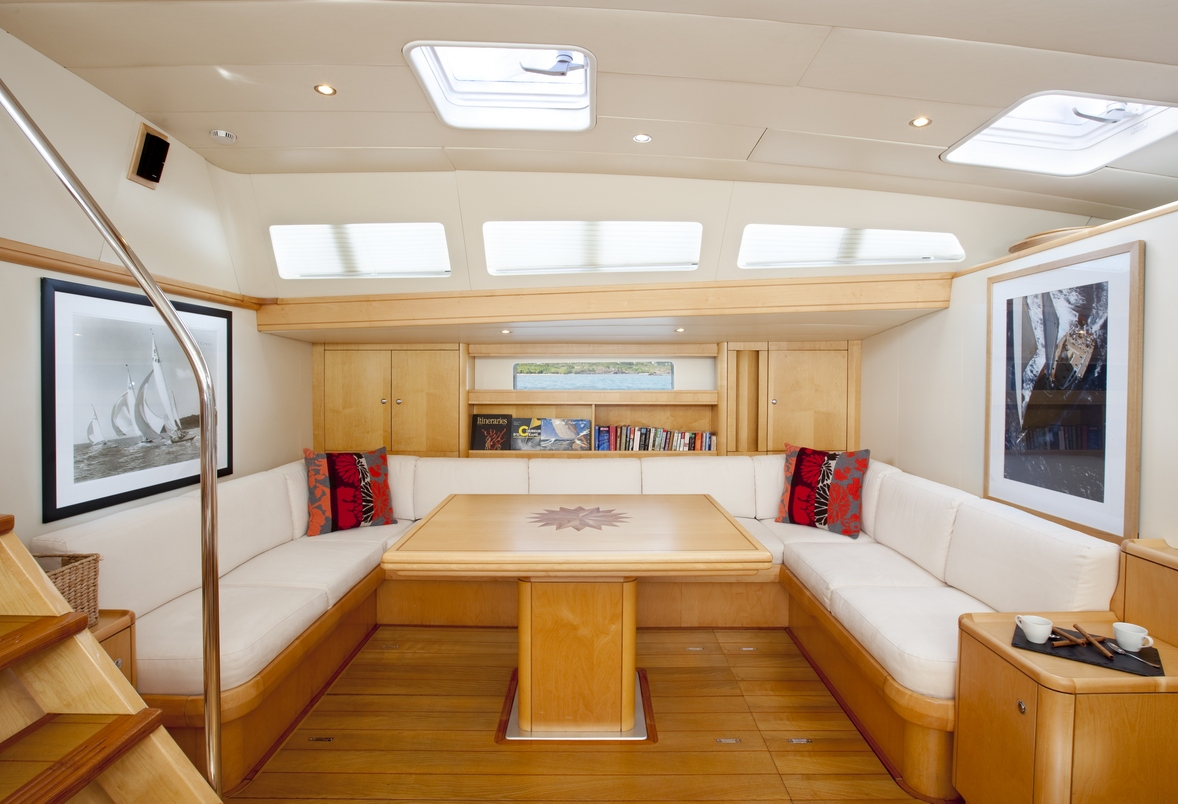 Sailing yacht oceans seven2 saloon port settee
