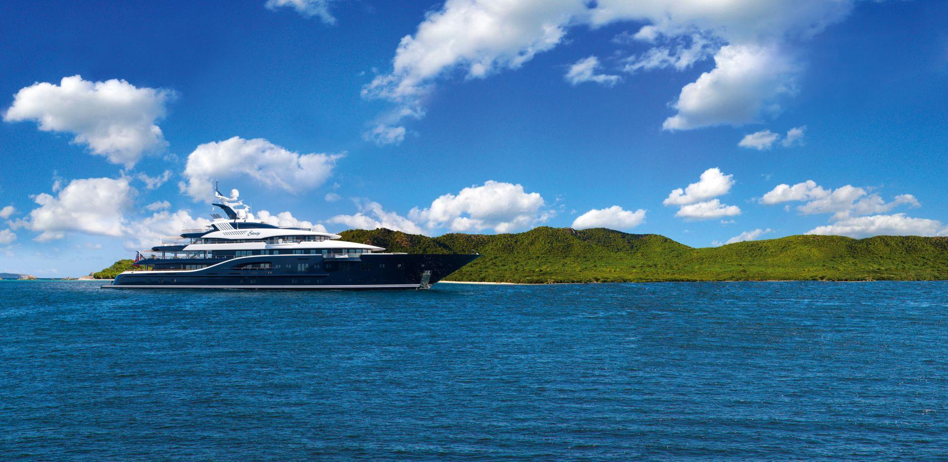 Yacht Solandge Running In The Caribben