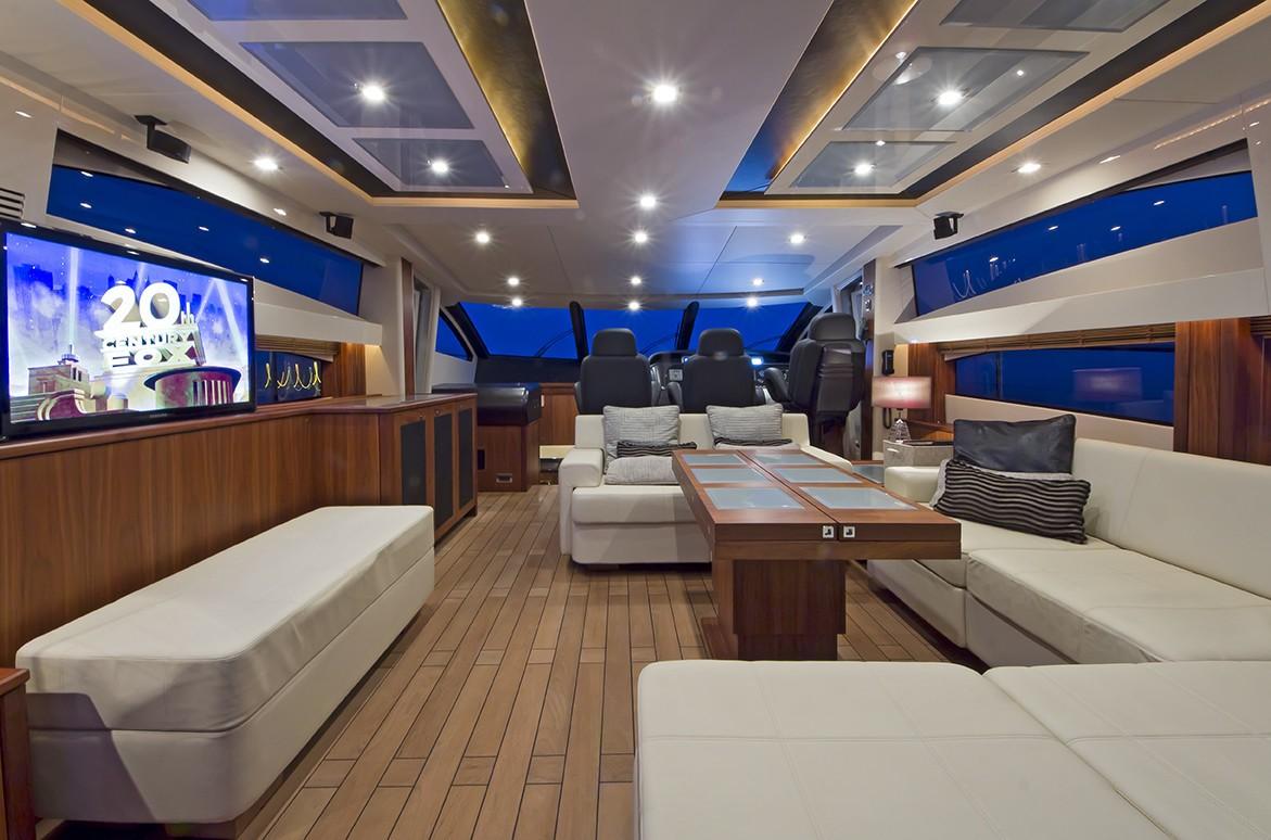 Inside Aboard Yacht AQUA BLUE IRELAND