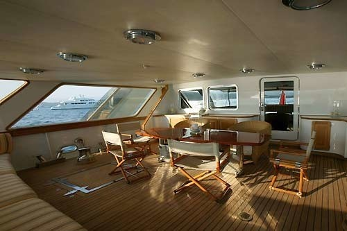 After Deck On Board Yacht INDIA