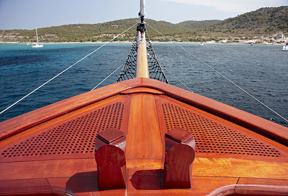 Ship's Bow On Board Yacht IRAKLIS L