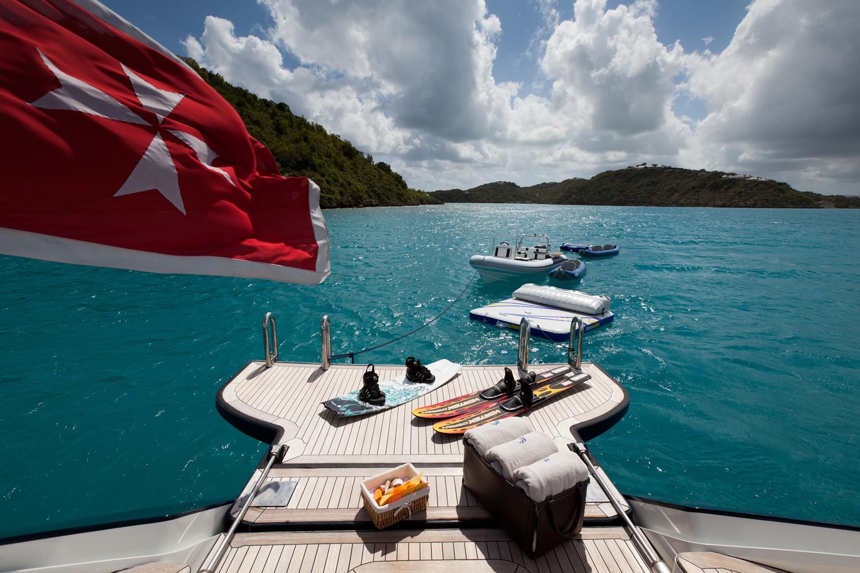 Swimming Landing On Board Yacht GENEVIEVE