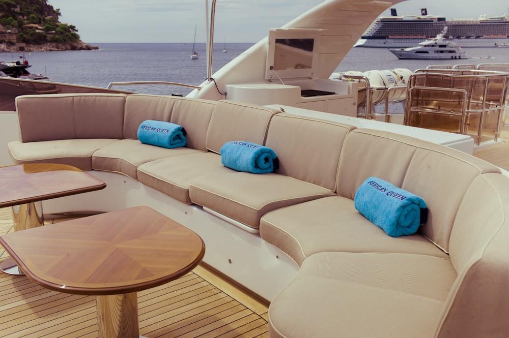 Circular Sitting On Board Yacht AFRICAN QUEEN
