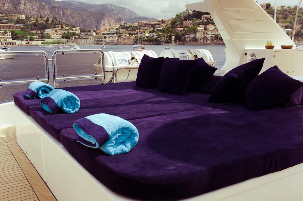 Sunbeds Aboard Yacht AFRICAN QUEEN